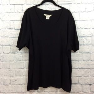 Exclusively Misook Black Scoop Neck Top - 3X